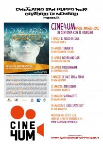 Cine4um - aprile-maggio2016 - manifesto